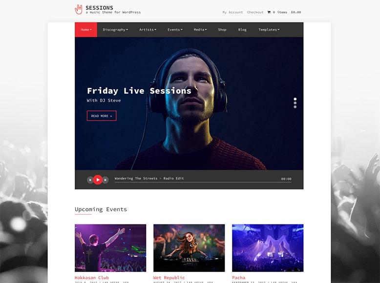 Sessions - Plantilla WordPress para bandas musicales y músicos