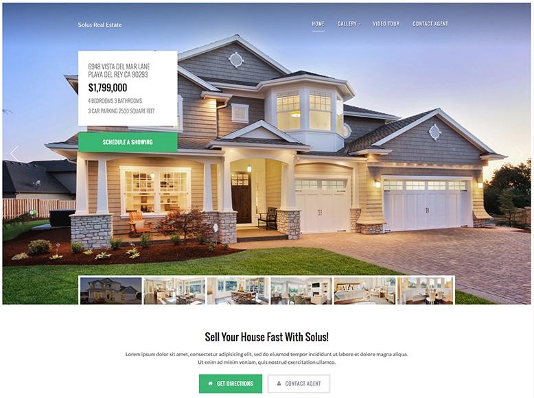 Solus - Plantilla WordPress para venta de inmuebles y casas