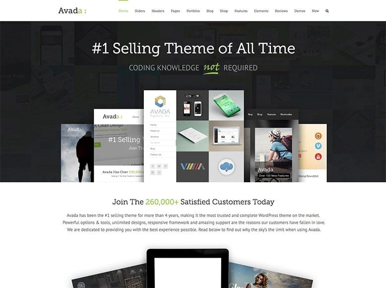 Avada - Plantilla WordPress para todo tipo de empresas, startups, freelances y autónomos