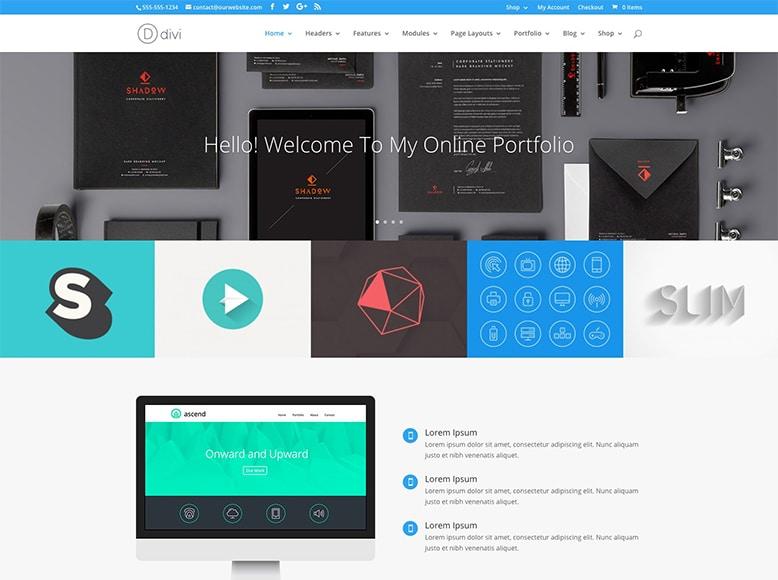 Divi - Plantilla WordPress para portafolios modernos de despachos de arquitectos