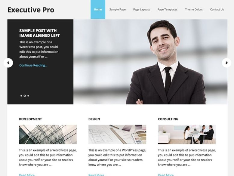Executive Pro - Tema WordPress para empresas y sitios corporativos