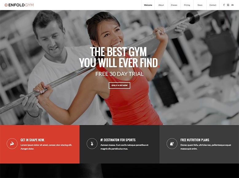 Enfold - Plantilla WordPress para cadenas de gimnasios, pequeños gimnasios y centros de fitness