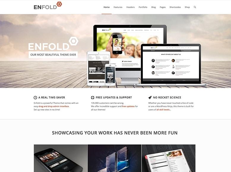 Enfold - Plantilla WordPress para startups, pequeñas y medianas empresas, agencias y emprendedores