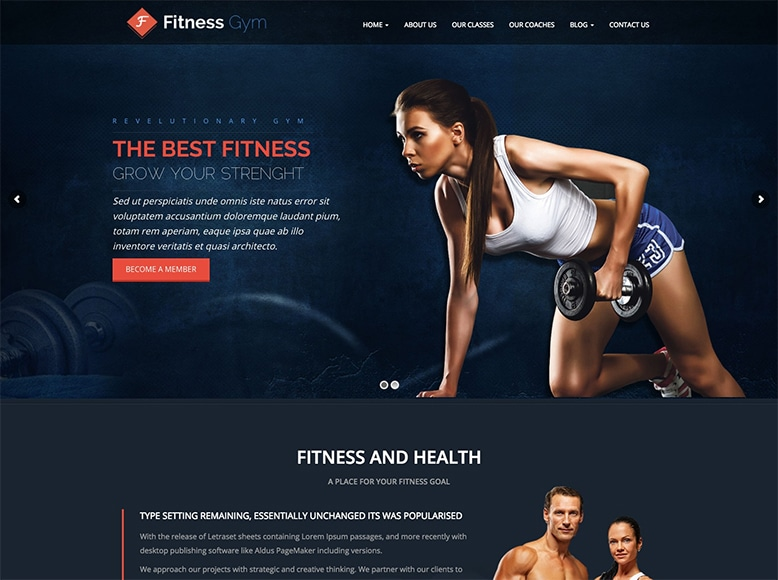 Fitness - Plantilla WordPress para gimnasios, centros deportivos, fitness, culturismo