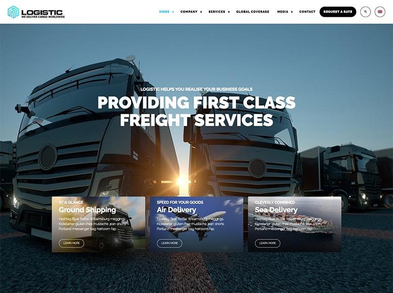 Logistic WP - Plantilla WordPress para empresas del sector de transporte y logística