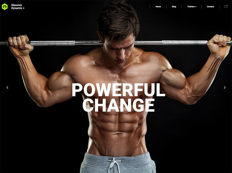 Massive Dynamic - Plantilla WordPress moderna para gimnasios y salas de fitness