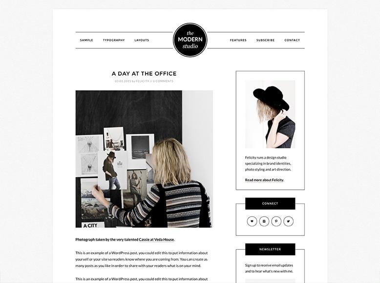Modern Portfolio Pro - Plantilla WordPress para portafolios minimalistas de artistas y creativos