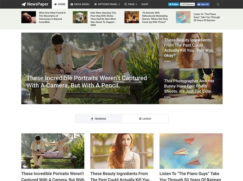 Newspaper - Tema WordPress para sitios web de noticias y periódicos digitales