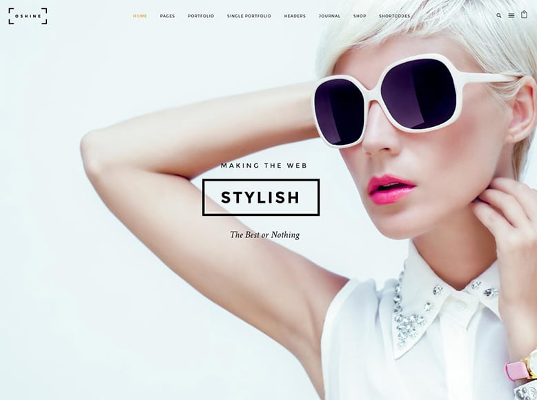 Oshine - Plantilla WordPress para portafolios de fotografía y trabajos creativos