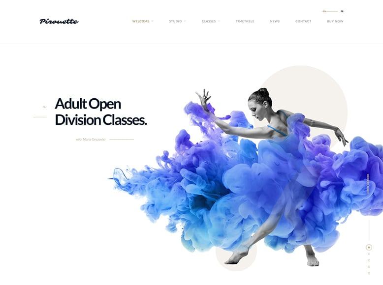Pirouette - Tema WordPress para escuelas de danza y ballet, academias de baile