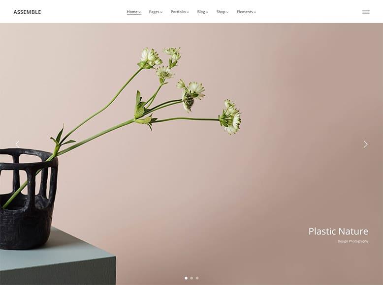 Assemble - Plantilla WordPress de portafolios para agencias de arquitectura