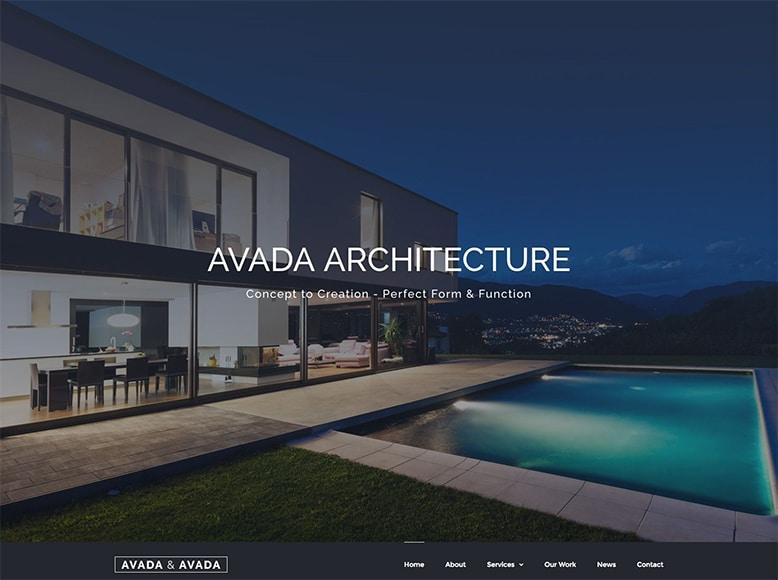Avada - Plantilla WordPress para despachos de arquitectura y arquitectos