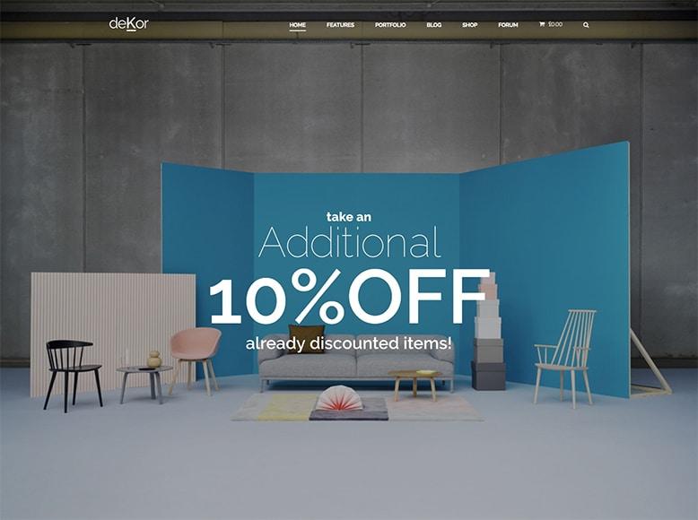 DeKor - Plantilla WordPress para despachos de decoración y diseño de interiores