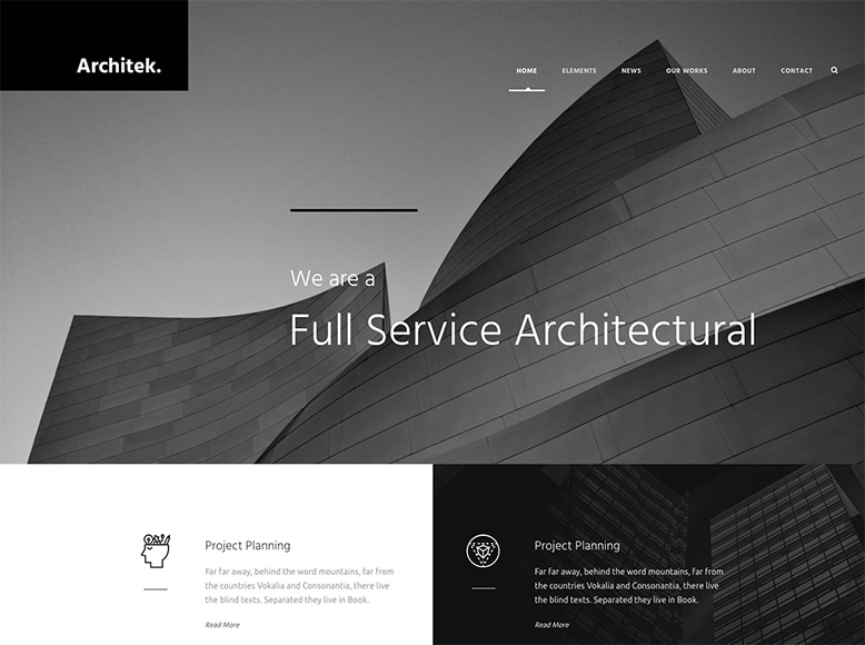 Infinite - Plantilla WordPress para arquitectos y despachos de arquitectura