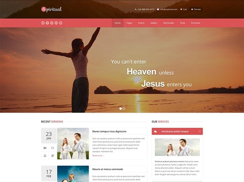 Spiritual - Plantilla WordPress para centros espirituales, grupos religiosos e iglesias