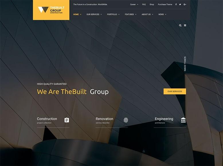 TheBuilt - Plantilla WordPress para estudios de arquitectos y despachos de arquitectura