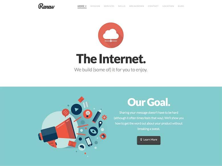 X - Plantilla WordPress de una sola página para startups, portafolios, freelances y empresas