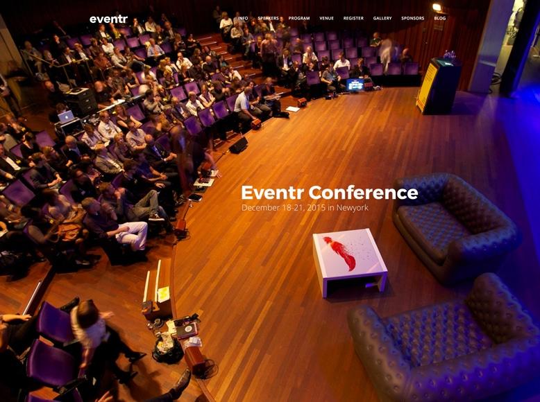 Eventr - Plantilla WordPress para organizar conferencias, eventos, talleres, reuniones