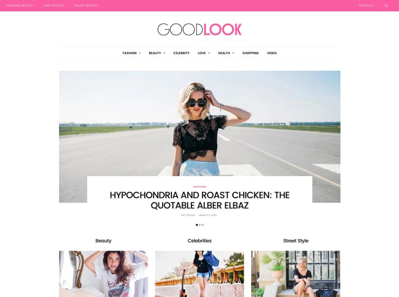 GoodLife - Plantilla WordPress para revistas online y blogs de moda, belleza y tendencias