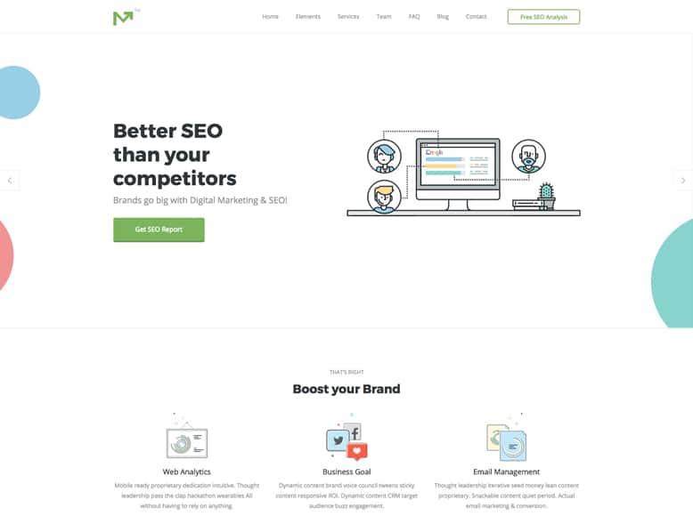 Marketing Pro - Tema WordPress para Agencias SEO y de Marketing Digital