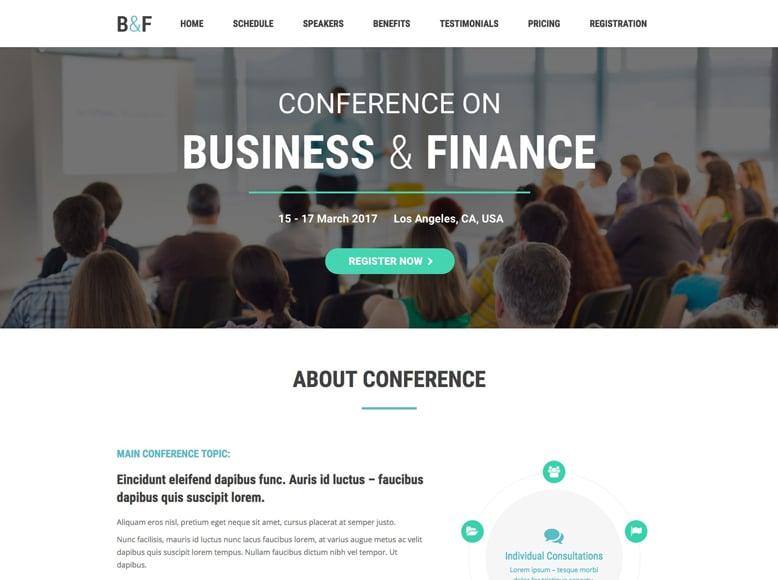 The7 - Plantilla WordPress para eventos de empresas y conferencias corporativas