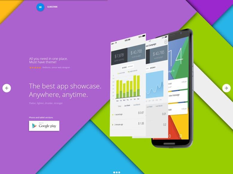 Appica 2 - Plantilla WordPress para landing pages de aplicaciones móviles iOS y Android