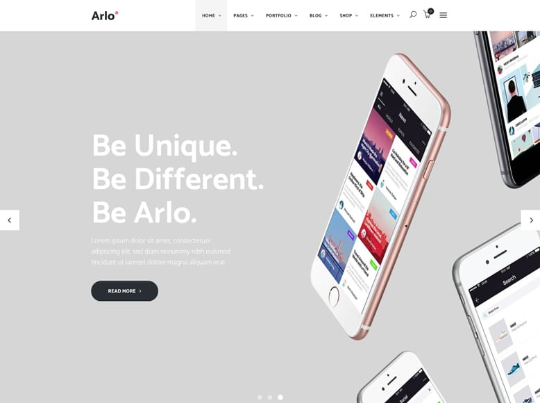 Arlo - Tema WordPress para sitios web de aplicaciones móviles y software