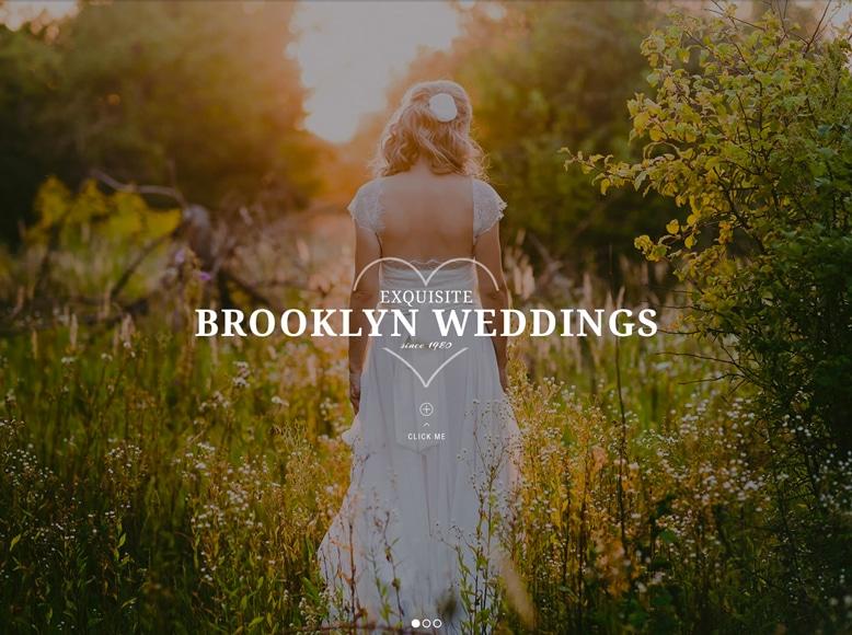 Brooklyn - Plantilla a una sola página de WordPress para sitios web de bodas