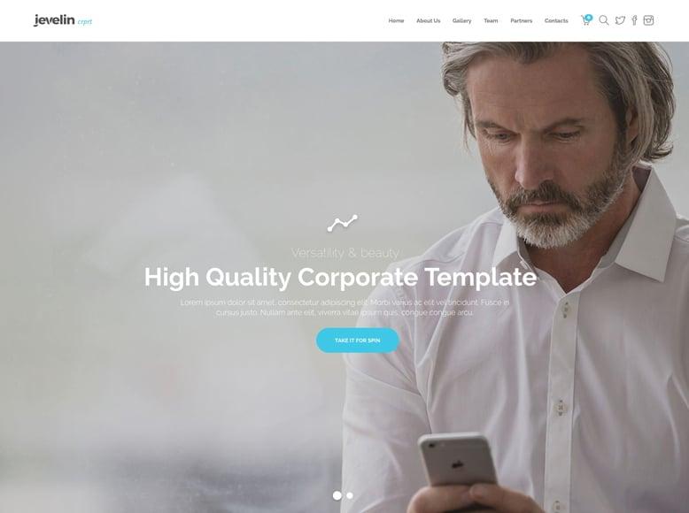 Jevelin - Tema WordPress para la promoción de aplicaciones móviles y software tecnológico