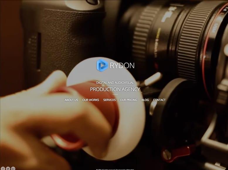 RYDON - Tema WordPress para productoras audiovisuales, camarógrafos y estudios de cine