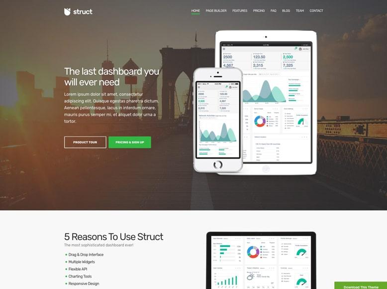 Struct - Plantilla WordPress para promoción de aplicaciones móviles y software a medida