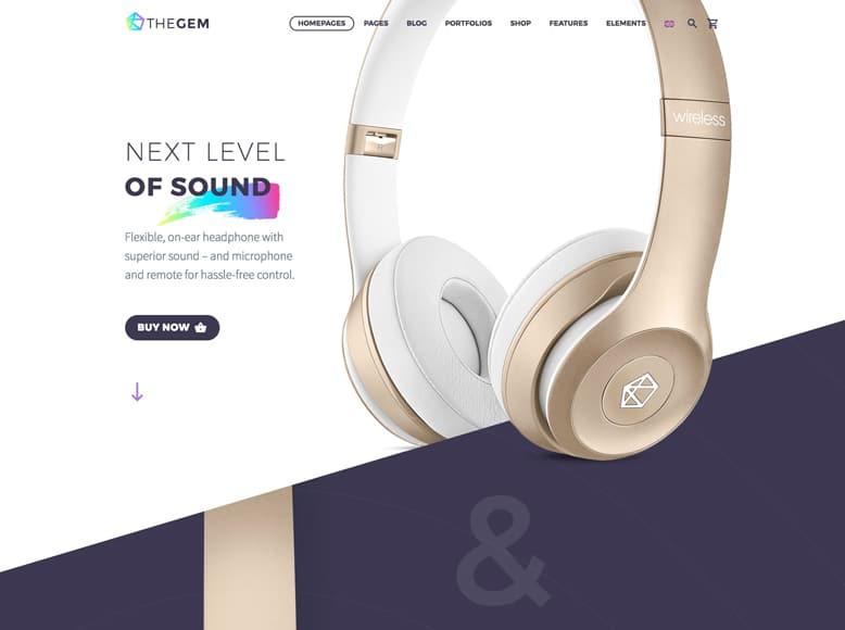 TheGem - Plantilla WordPress para landing pages de productos, app y servicios