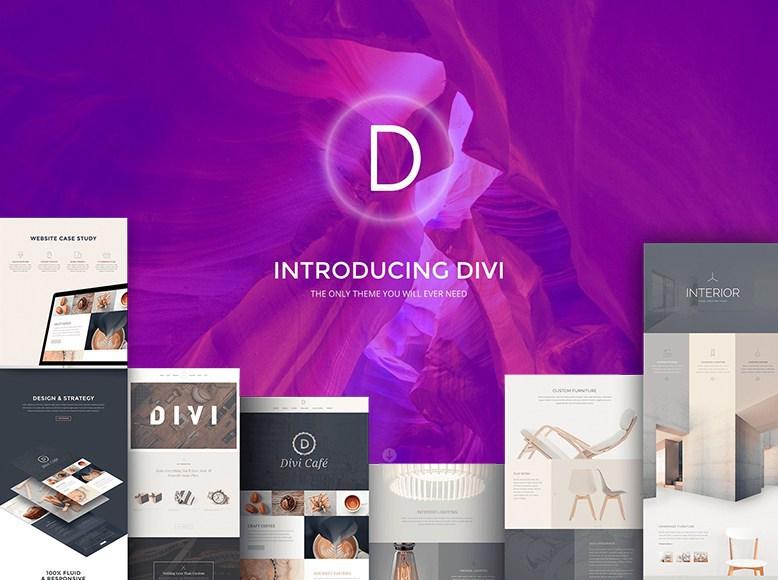 Divi - Plantilla WordPress para elegante para portafolios de artistas y creativos