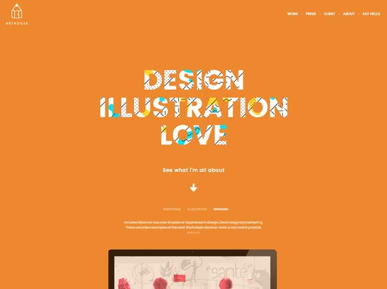 Massive Dynamic - Plantilla WordPress para portafolios de diseñadores, artistas e ilustradores