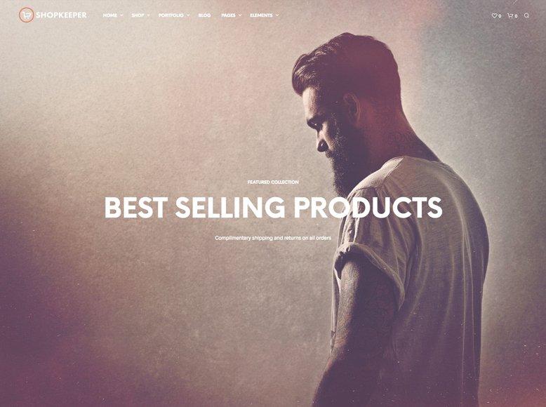 ShopKeeper - Plantilla WordPress moderna para tiendas online WooCommerce
