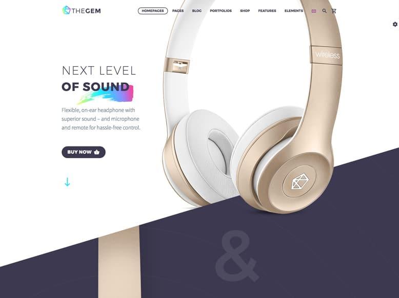 TheGem - Plantilla WordPress moderna para el marketing de productos y servicios