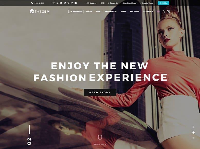 TheGem - Plantilla WordPress moderna para tiendas online de moda y complementos