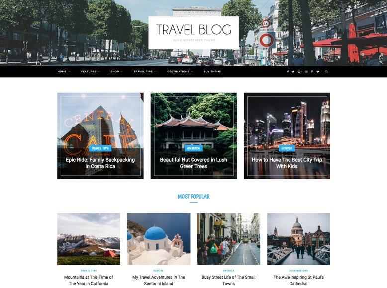 CheerUp - Plantilla de WordPress para blogs de viajes