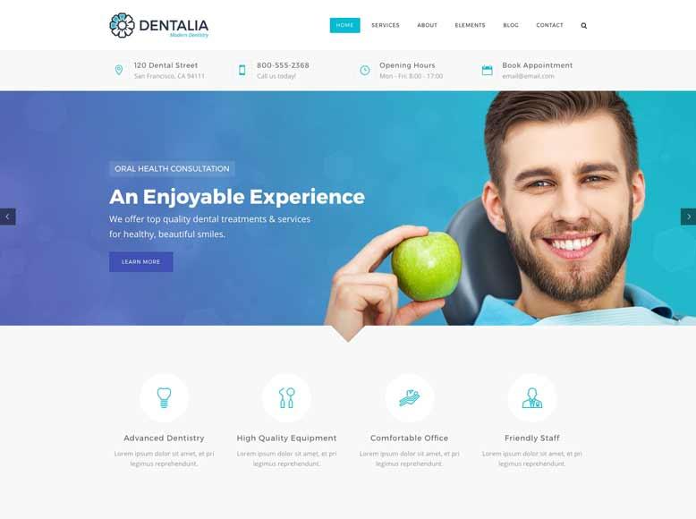 Dentalia - Tema WordPress para dentistas y clínicas dentales