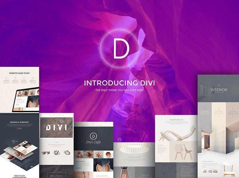 Divi - Plantilla WordPress elegante para fotógrafos profesionales y amateurs