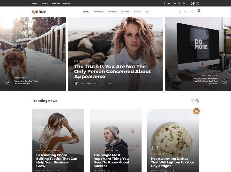 Gillion - Tema WordPress para revistas digitales y sitios de noticias online