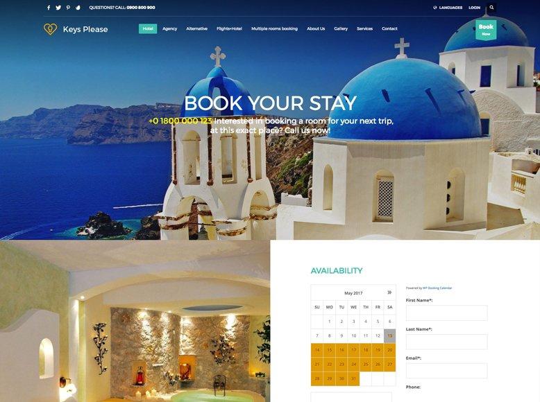 Kallyas - Plantilla WordPress para sitios web de hoteles, hostales y alojamientos vacacionales