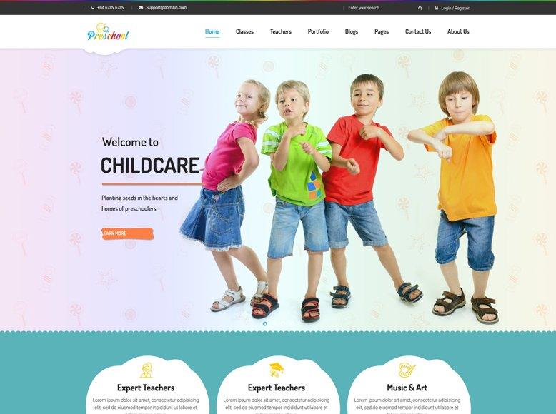 Preschool - Tema WordPress moderno para guarderías y jardines de infancia