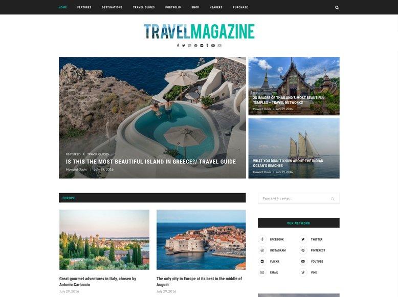 Soledad - Plantilla WordPress para revistas digitales de viajes y aventuras
