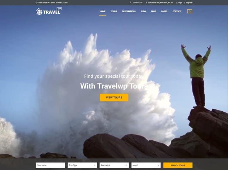 Travel WP - Plantilla WordPress para creativas agencias de viajes y tour operadores