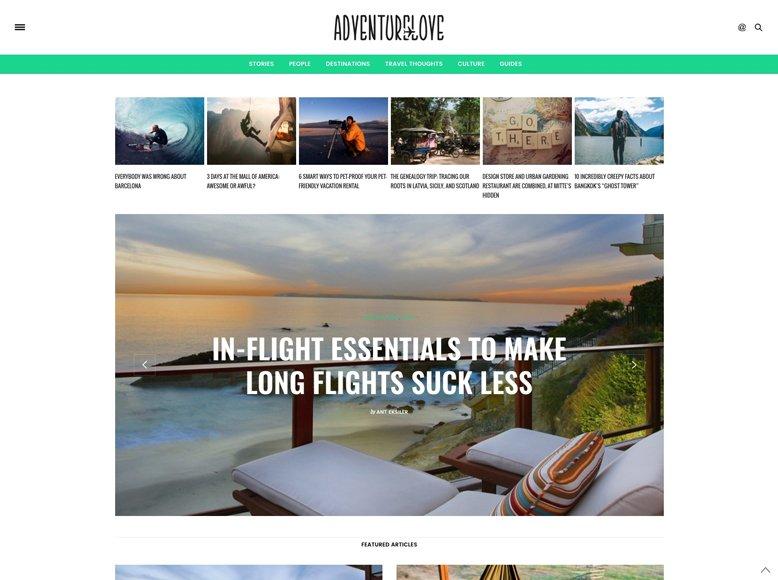 The Voux - Plantilla WordPress elegante para blogs de viajes y aventuras