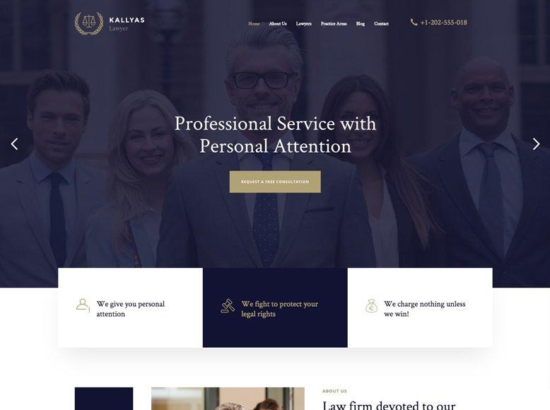 Kallyas - Tema WordPress para sitios web de abogados y asesorías legales
