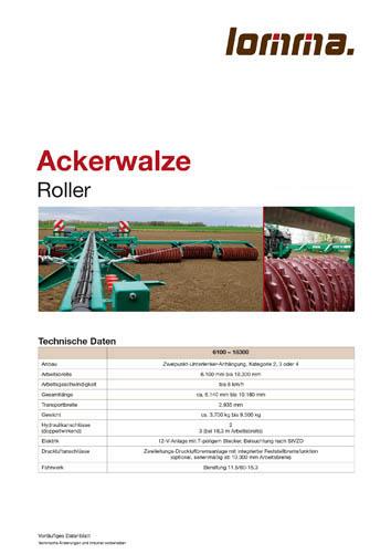 Lomma Sachsen Ackerwalze Technische Daten