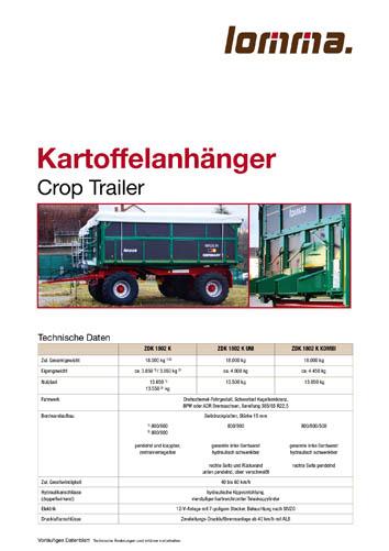 Lomma Sachsen Kartoffelanhänger ZDK 1802 K Download