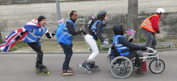 Wheelchair and skates